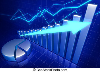 affär, finansiell tillväxt, begrepp