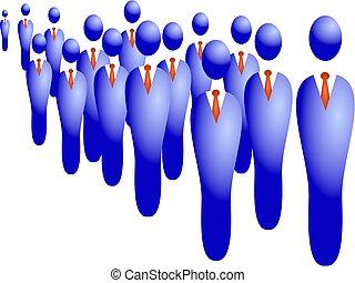 affär, folkmassa