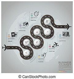 affär, global, diagram, infographic, flyglinje, resa