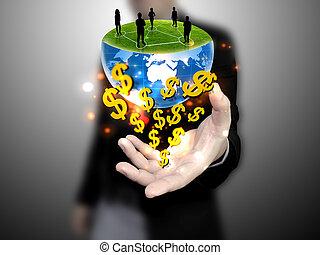 affär, global, sammanhängande, holdingen, lag, affärsman