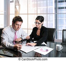 affär, konsultation