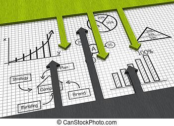 affär, marknaden, kartlägga