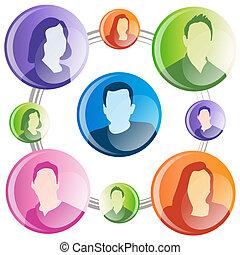 affär, nätverk, kommunikation