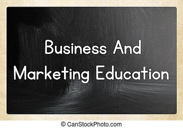 affär, och, marknadsföra, utbildning