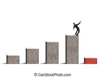 affär, riskera, med, kris