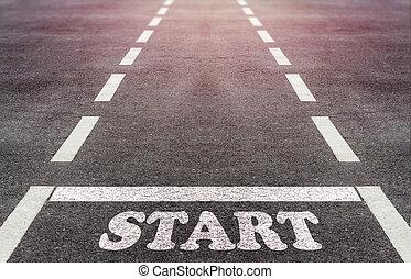 affär, start, begrepp