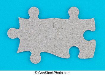 affär, teamwork, begrepp, integration, problem