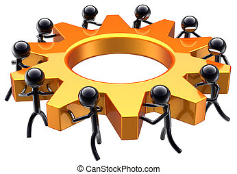 affär, teamwork, dröm, lag