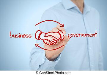 affär, till, regering, b2g