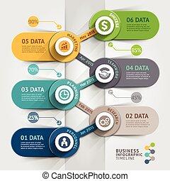 affär, timeline, infographic, template., vektor,...