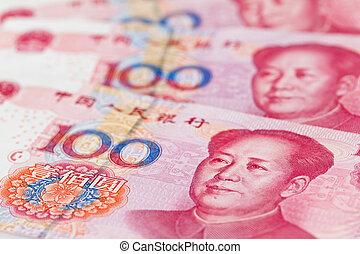 affär, valuta, porslin, yuan., kinesisk