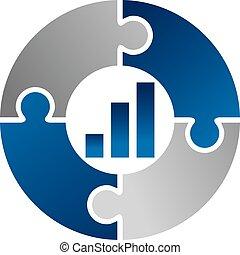 affär, vektor, design, mall, logo, teamwork