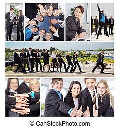 affärsfolk, collage