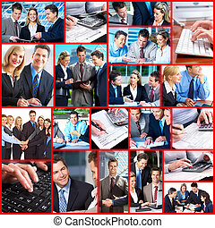 affärsfolk, collage.