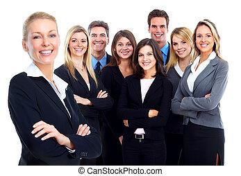 affärsfolk, group.