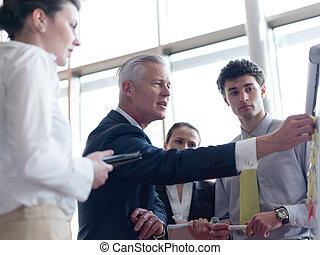 affärsfolk, grupp, brainstorming