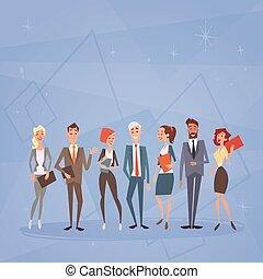 affärsfolk, grupp, lag, mänskliga resurser, kolleger