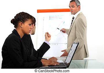 affärsfolk, in, a, möte