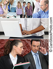 affärsfolk, på arbete