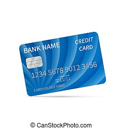 affärskort, white., värld, mall, präglat, concept., isolerat, vektor, omkring, realistisk, silver, kreditera, pengar, plastisk, blå, detaljerad, payments, symbols., theme.