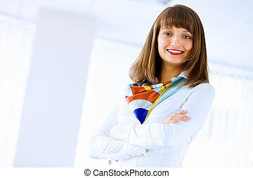 affärskvinna, attraktiv