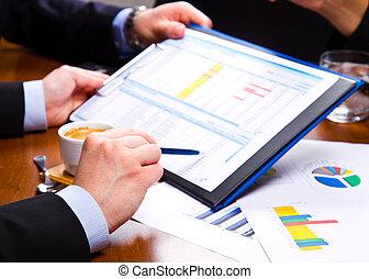 affärsmöte, på, kartlägga