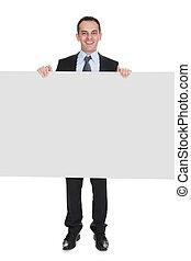 affärsman, holdingen, affisch