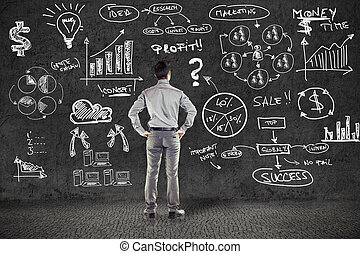 affärsman, in, passa, och, affärsverksamhet planera, på,...