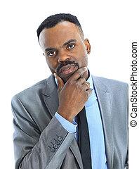 affärsman, le, afroamerikansk