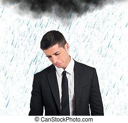 affärsman, pessimist, kris