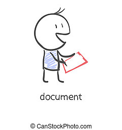 affärsman, underteckna, dokument