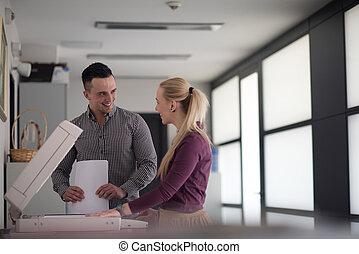 affärsverksamhet koppla, avskrift, dokument