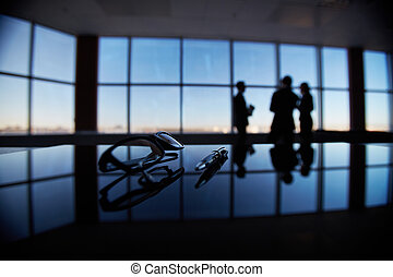 affärsverksamhet nekar, på, workplace
