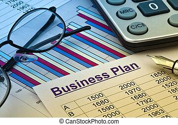 affärsverksamhet planera, av, a, permanent, upprättande