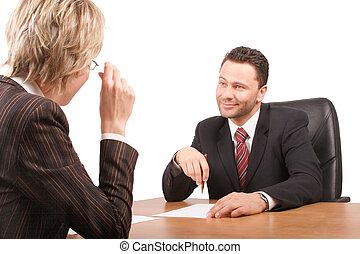affärsverksamhet prata