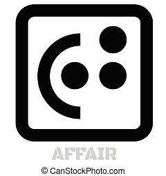Affair conceptual graphic icon