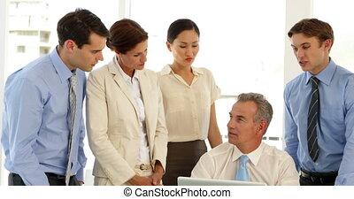 affaires conversation, équipe