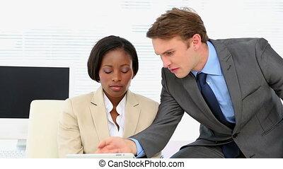 affaires conversation, ensemble, gens