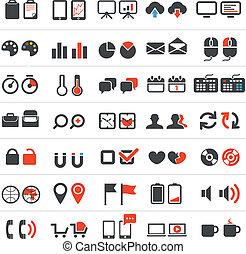 affaires enchaînement, collection, icônes
