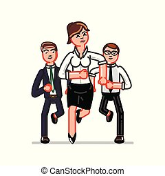 affaires femme, équipe