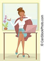 affaires femme, africaine