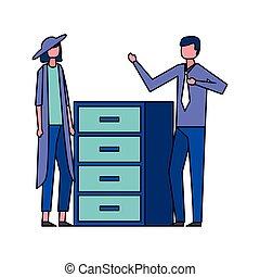 affaires femme, bureau, homme