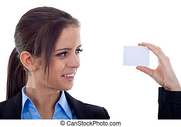 affaires femme, carte, vide