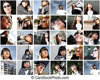 affaires femme, collage
