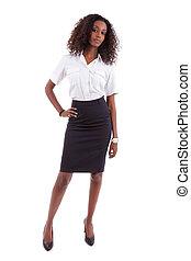 affaires femme, gens, -, jeune, américain, africaine