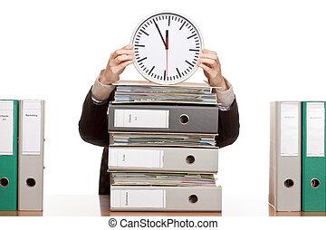 affaires femme, horloge