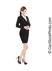 affaires femme, jeune, sourire, asiatique