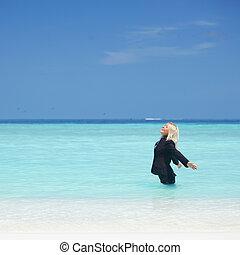 affaires femme, océan