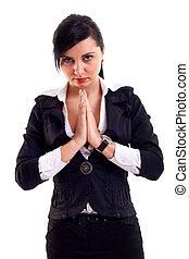 affaires femme, prier