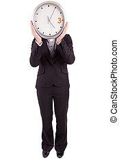 affaires femme, tenue, horloge